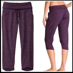 Athleta Chillax Sweat Capris Purple, Large